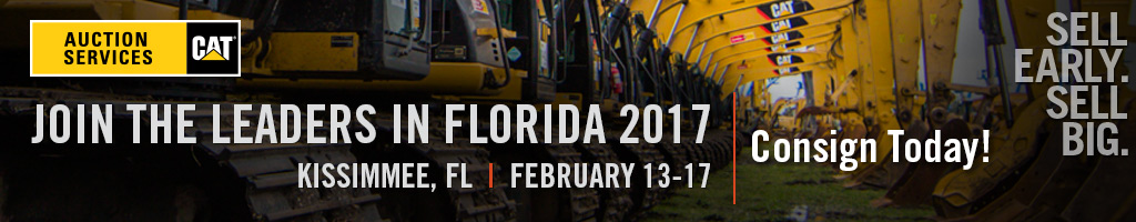 Sell Early. Sell Big. With IronPlanet & Cat Auction Services. Florida 2017