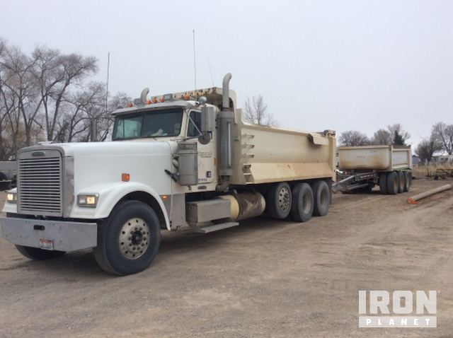 Trucks trailers for sale ironplanet 1999 freightliner fld120 combination truck w1995 pup dump publicscrutiny Choice Image