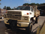 1991 Ford F800F Flatbed Dump Truck