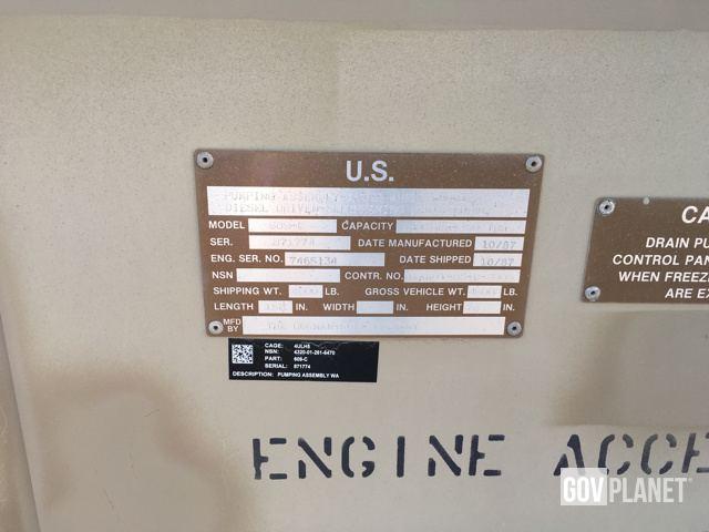 Water Pump Serial Number